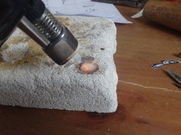 Casting Sterling Silver to make the cheese